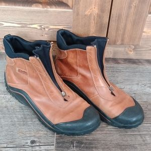 Clark's leather booties